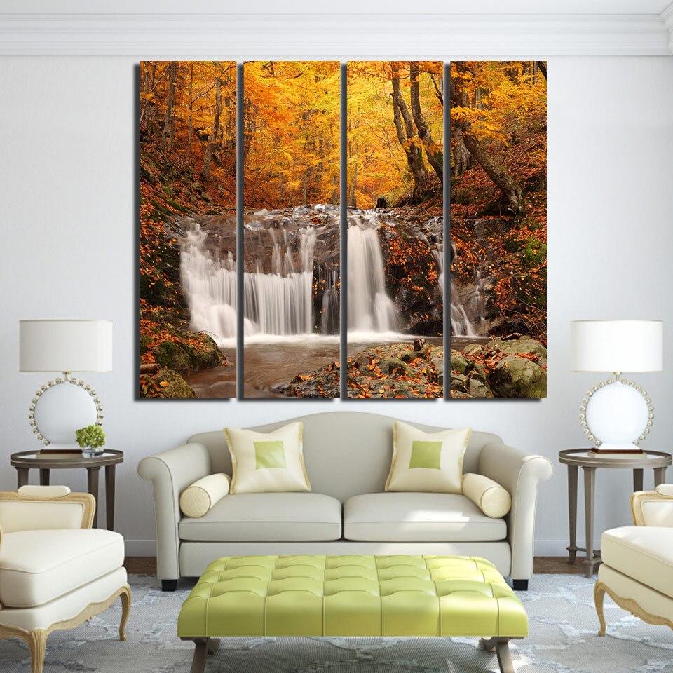 achetez en gros automne paysage peintures en ligne des grossistes automne paysage peintures. Black Bedroom Furniture Sets. Home Design Ideas
