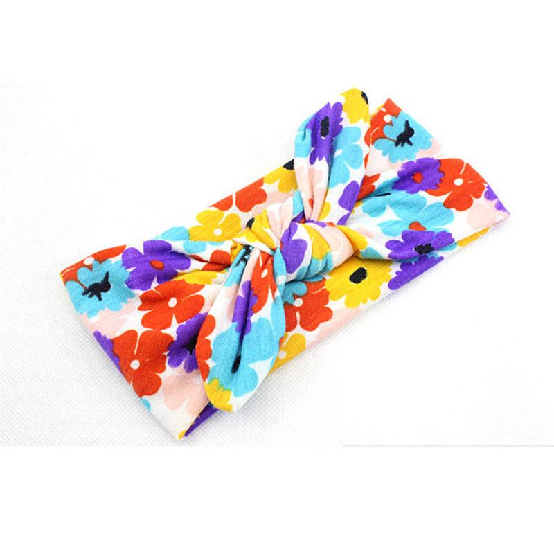 Новинка; цветная повязка на голову для новорожденных в стиле бохо; эластичная лента для волос для малышей; Детская повязка на голову с бантом для девочек - Цвет: Оранжевый