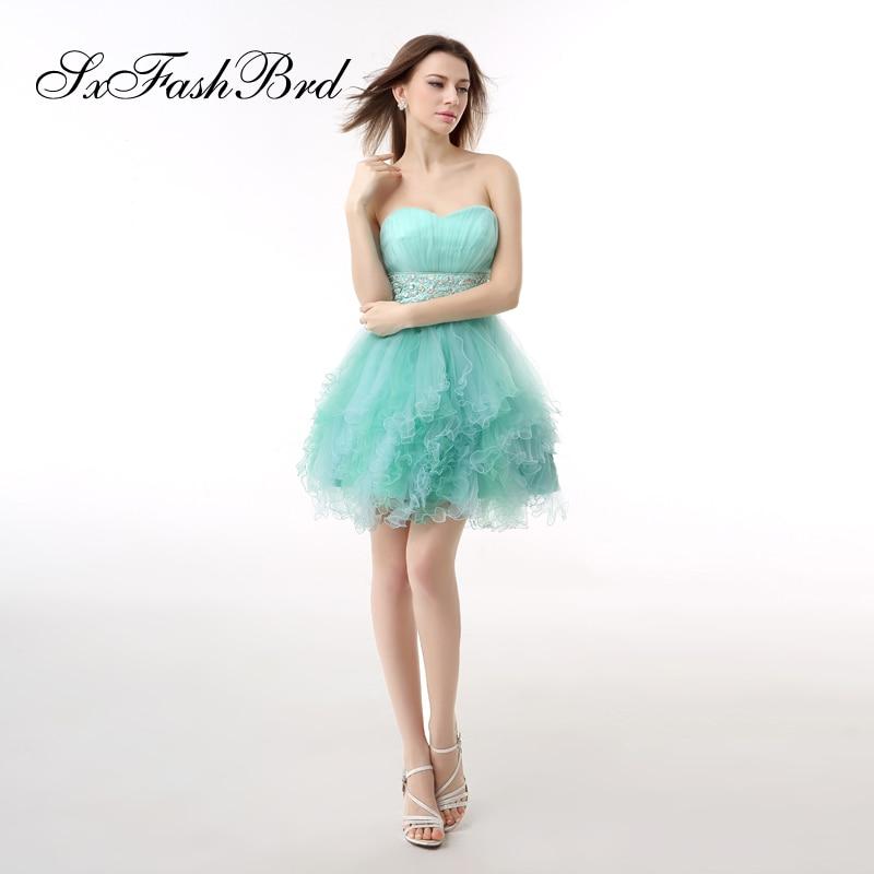 Vestido Ee NocheVestido Branco Ruffle Sweetheart A Line Mini Short Tulle Formal Elegant   Dresses   Women Evening Party   Prom     Dress