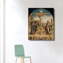 The Crucifixion by Carlo Crivelli Wall Art Canvas Poster and Print Painting Decorative Picture for Living Room Home Decor
