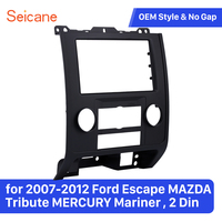 Seicane 2 Din Car Navigation Stereo Frame Trim Bezel Kit for 2007 2012 Ford Escape MAZDA Tribute MERCURY Mariner Panel Plate