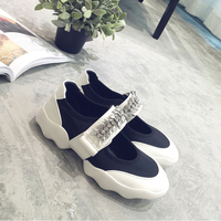 New Arrive Crystal Women Flats Fashion Women Brand Shoes Casual Flat Platform Solid Crystal Slip On