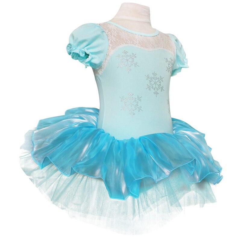 Image 2 - IIXPIN Kids Girls Elsa Princess Ballet Tutu Dress Snowflake Tutu Dancewear Party Dress For Girls leotards ballerina Elsa DressBallet   -