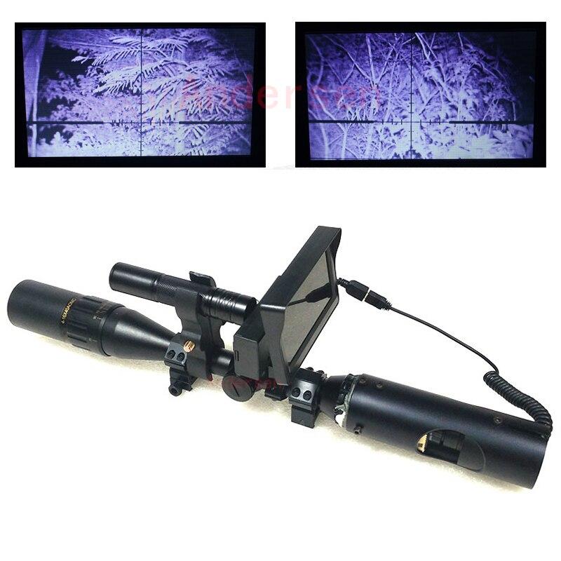Новый горячий открытый охотничья оптика зрение Тактический Цифровой Инфракрасный бинокль ночного видения с ЖК-дисплеем и фонариком для ...