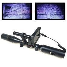 دیدگاه شب دوربین های شکاری یکچشمی مادون قرمز مادون قرمز مادون قرمز با شکار و مانیتور و چراغ قوه مادون قرمز برای تفنگ ها