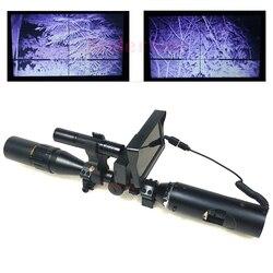 Nova quente ao ar livre caça óptica visão tática digital binóculos infravermelhos de visão noturna com lcd e lanterna para riflescope
