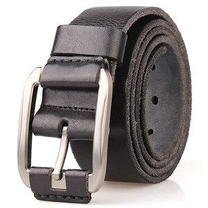 Image 3 - מעצב חגורת גברים יוקרה 100% אמיתי מלא תבואה עבה עור פרה עור אמיתי בציר 3.8cm ספורט גברי גודל גדול רך חגורת 150