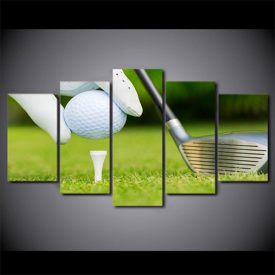 HD gedruckt 5 stück leinwand kunst golf bereit für kickoff malerei ...