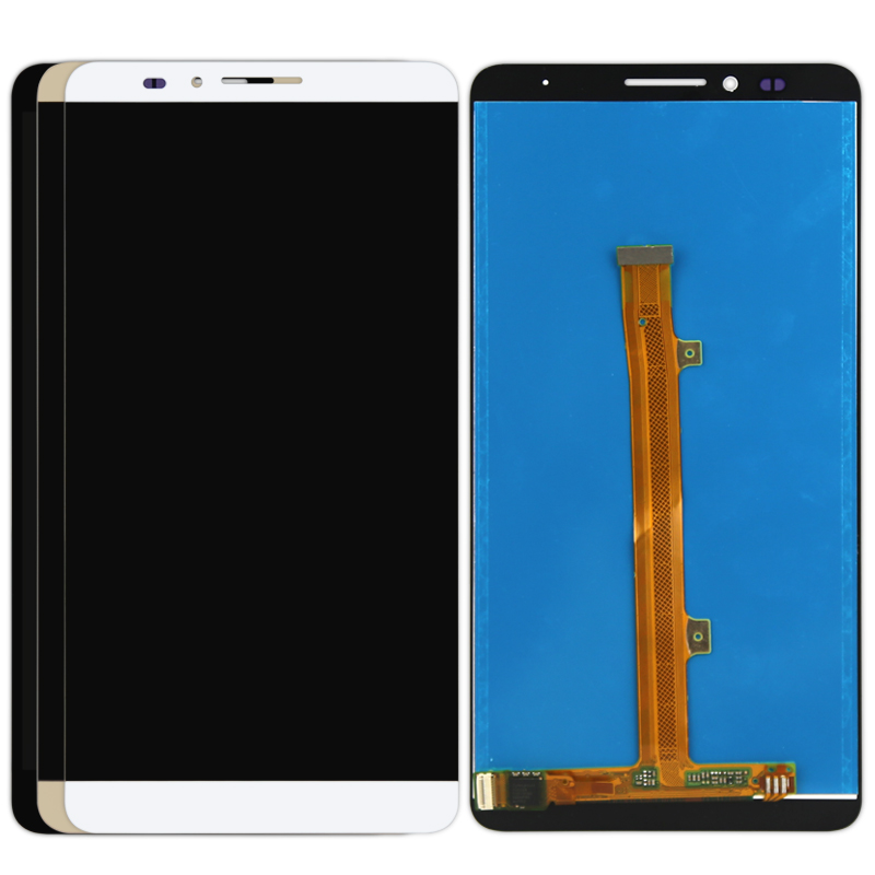 1pcs free shipping For HUAWEI MATE 7  LCD Display+Touch Screen Digitizer Assembly Replacement  black white gold replacement original touch screen lcd display assembly framefor huawei ascend p7 freeshipping