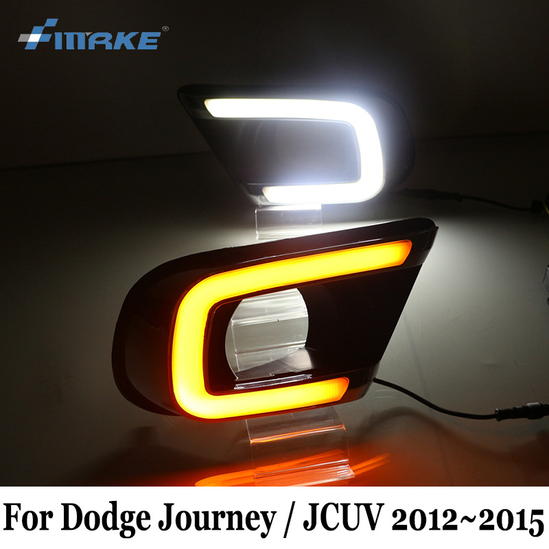 SMRKE DRL For Dodge Journey / JCUV 2012~2015 / Car Daytime Running Lights With Cornering Signal Lamp / Two colour Safe Driving