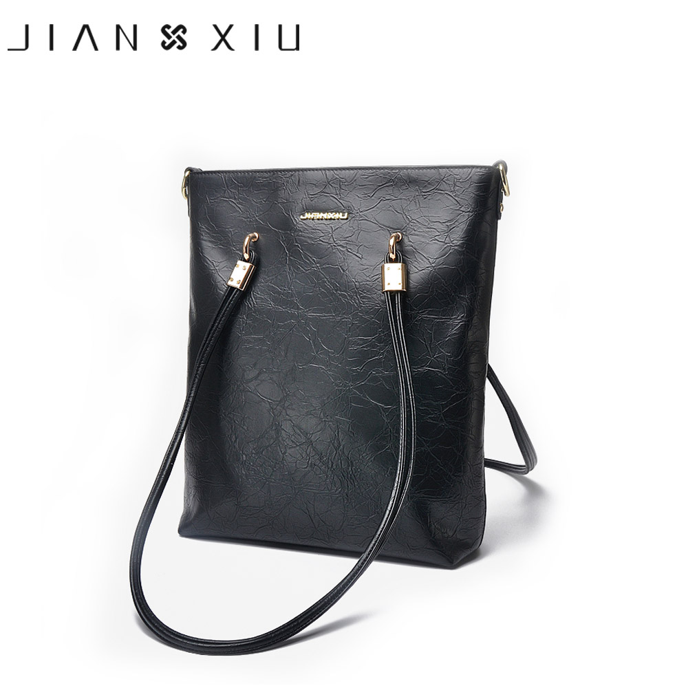 JIANXIU Bags Handbags Women Famous Brands Bolsa Feminina Split Leather Handbag Sac a Main Fashion Shoulder Bags Big Tote Borse 2016 women split leather handbags the waves peekaboo bags famous brands designer fashion ruffles handbag tote shoulder bag