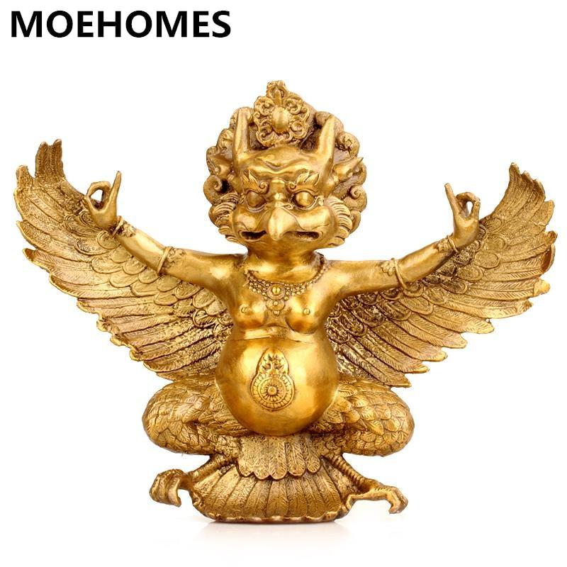 MOEHOMES pure copper, brass, eagle, Garuda, buddha statue, fengshui, Home decor, handicrafts, figurine, buddhist figureMOEHOMES pure copper, brass, eagle, Garuda, buddha statue, fengshui, Home decor, handicrafts, figurine, buddhist figure
