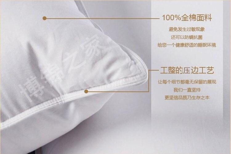 Средний 90% белый гусиный пух подушки европейский размер 26*26 дюймов заполнены 34 унц. Бесплатная доставка Оптовая продажа с фабрики - 2