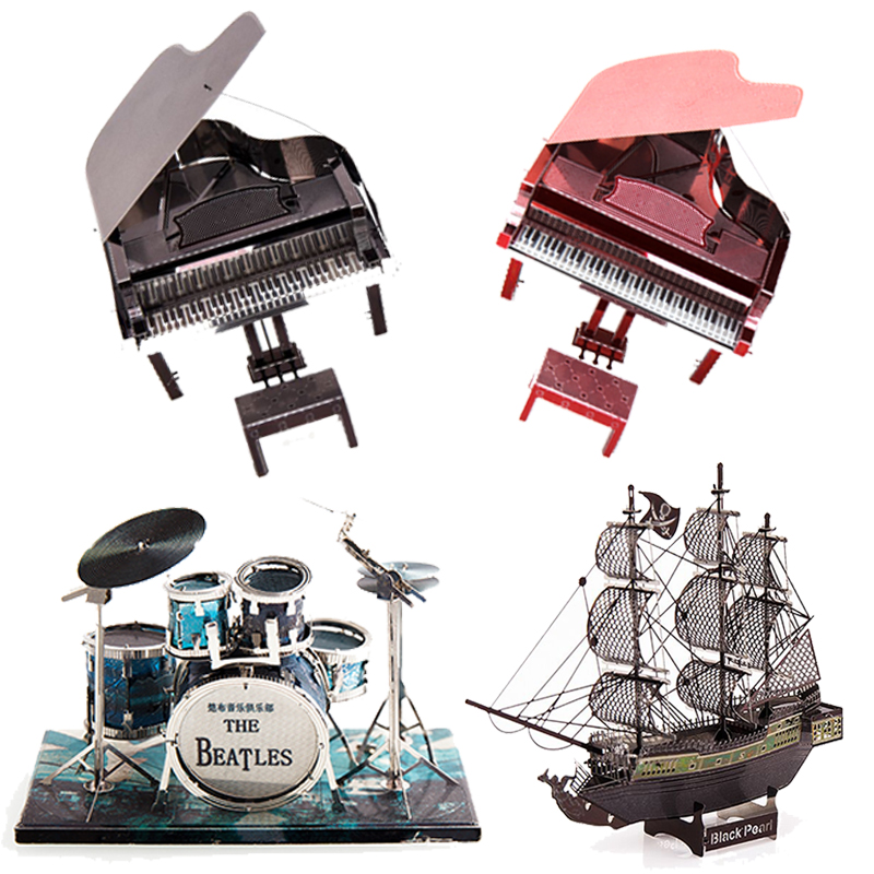 Musical Instruments 3D Metal Puzzle DIY Stainless Steel Asses