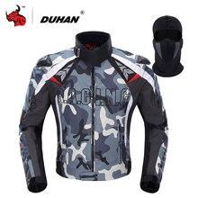 DUHAN męska Oxford Tkaniny Kurtka Motocross Motocykli Off-Road Racing Jacket Odzież Kurtka Kamuflaż Strażników Moto