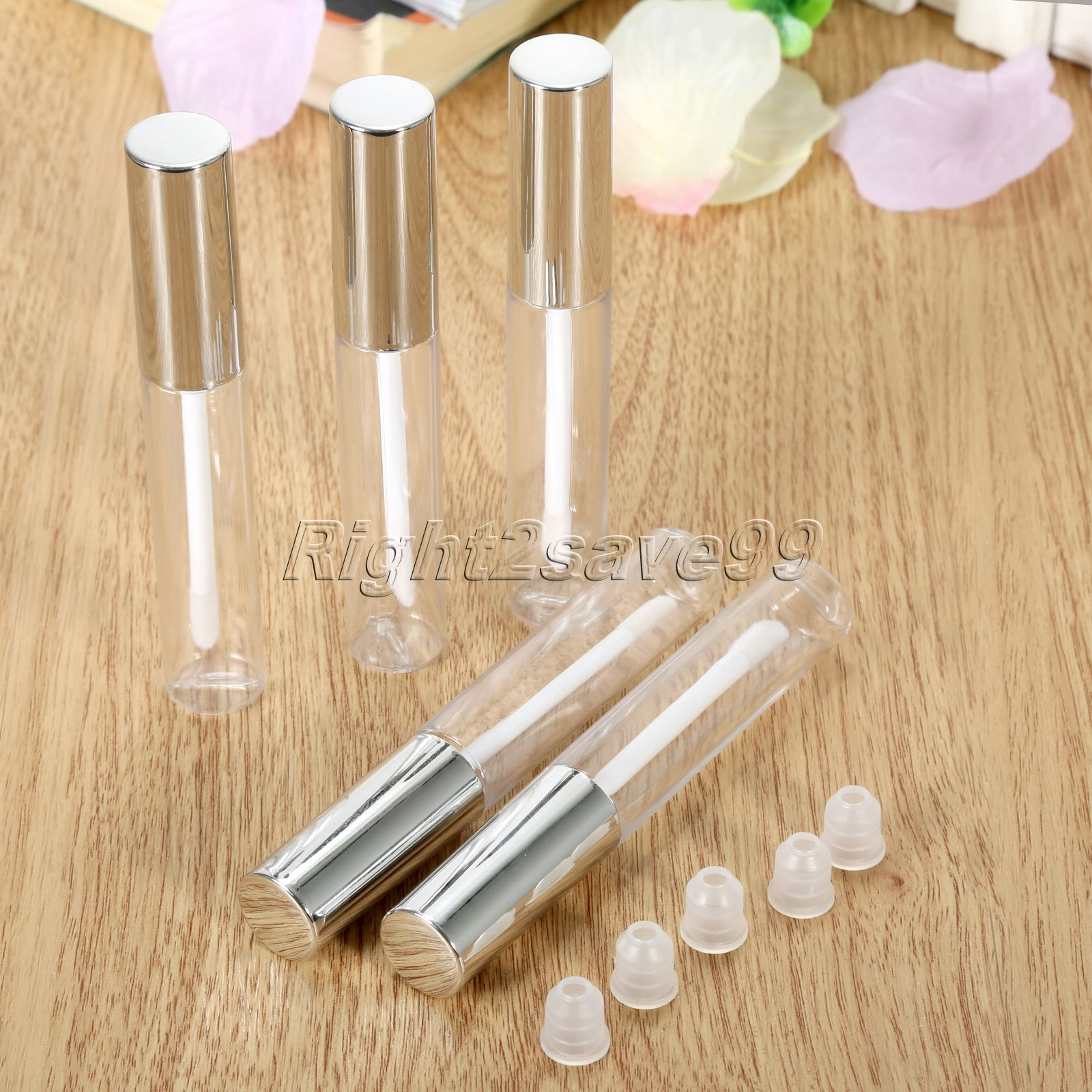 New Arrival 5pcs 10ml Lip Cute Bottle Empty Cosmetic Container Tube Travel Gloss Pretty Empty Clear Lip Containers For Makeup