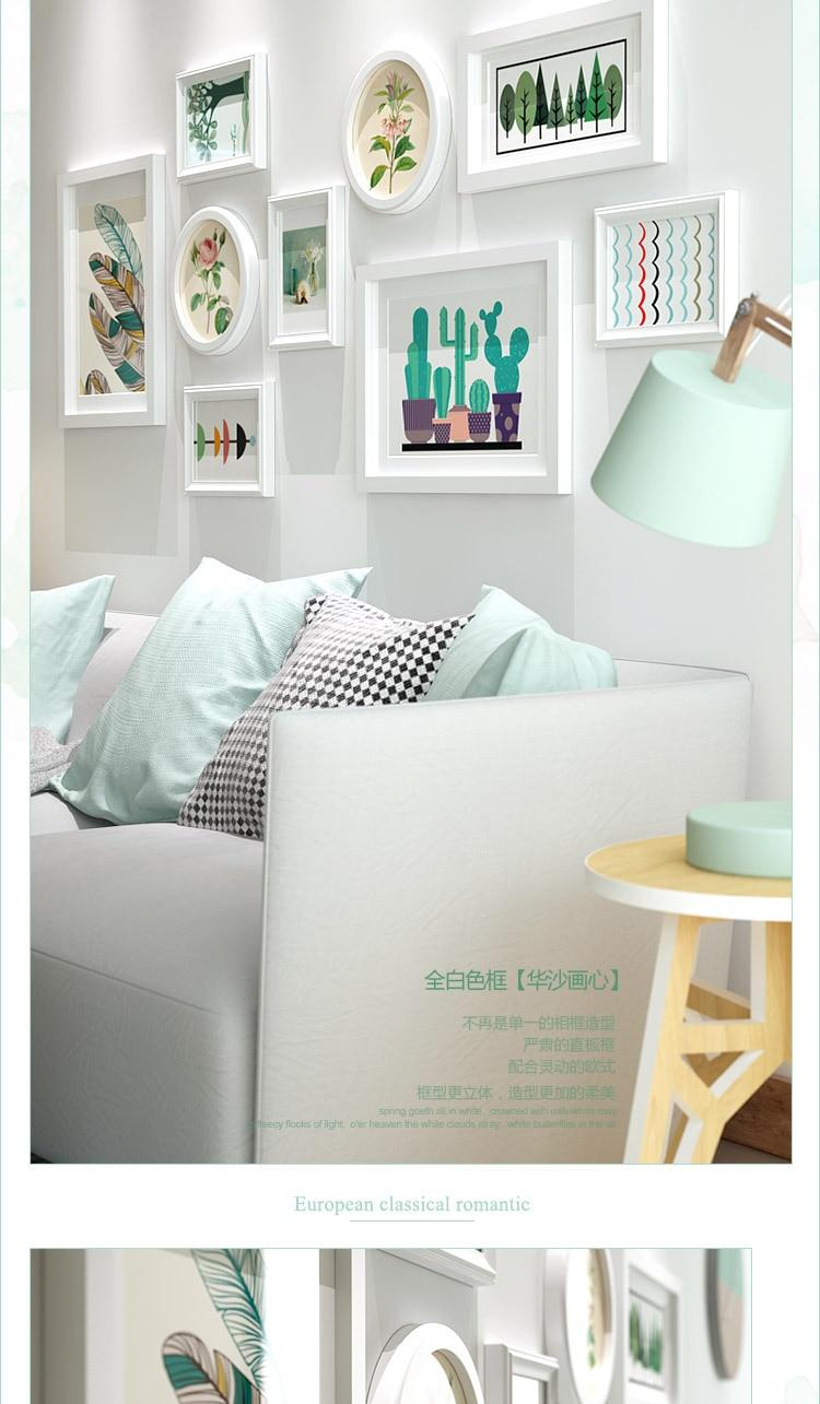 9 piezas blanco marcos para Home Living/comedor decoración de la ...