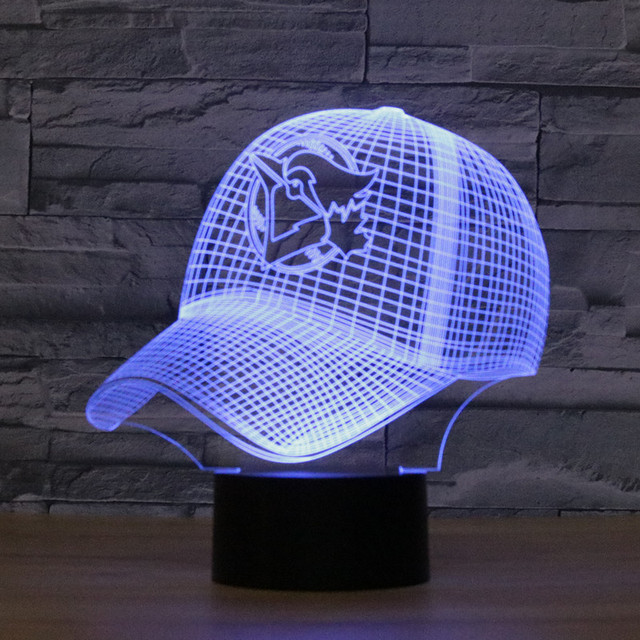san francisco dd075 4a60c ... ireland 8072 toronto blue jays baseball cap hat 3d led lamp atmosphere  lamp 7 color changing