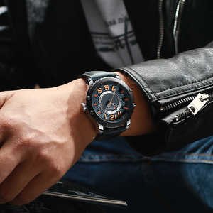 Image 4 - New Leather Watches Mens Top Brand CURREN Fashion Mens Clock Causal Business Quartz Wristwatch Gift Relogio Masculino