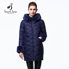 Snow Classic winter jacket women parka winter coat women clothes coat faux fur collar/sleeve solid high quality new arrival 2017
