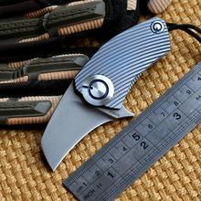 SiDis original design Parrot ball bearing S35vn blade Titanium Handle folding Hunt pocket outdoor camping knife knives EDC tool