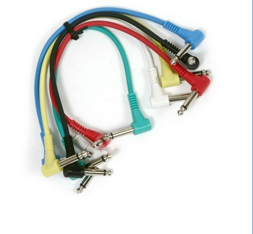 6 x Guitar Patch Cable Effects Pedal Cords AMP Cord