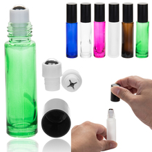 50pcs 10 ml Portable Glass Roller Rollerball Essential Oil Bottles Mist Container Travel Refillable Roll-on Perfume Bottle 50pcs lot 10 ml roll on portable amber glass empty essential oil bottles refillable perfume roller bottle makeup container