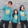 Осень и зима 2017 осень зима весна свитер тигр мать и дочь сын одежды соответствия семья одежда семья
