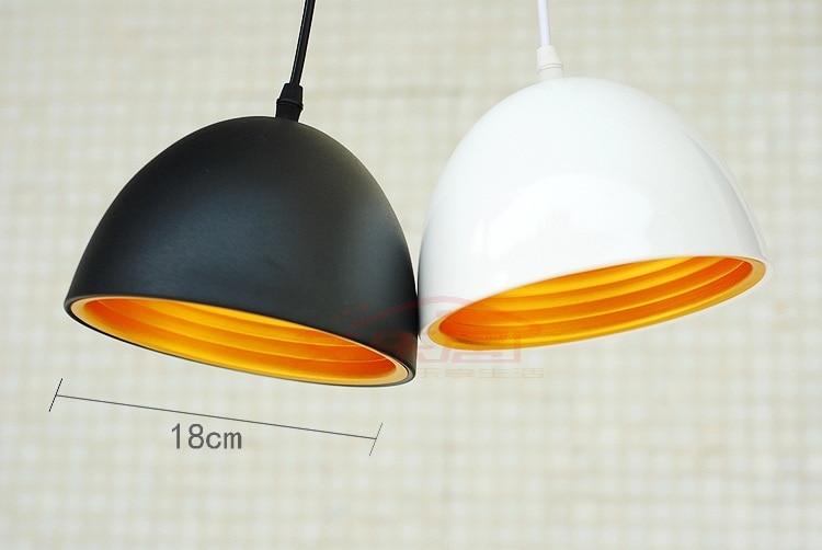 ФОТО LOFT Edison Retro Bright Black/White Cafe Decoration pendant lamp