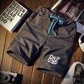 S-XXXL 2017 moda masculina verano cintura elástica de ocio harlan pantalones cortos/Hombre de alta gama de ocio cómodo pantalones cortos sueltos