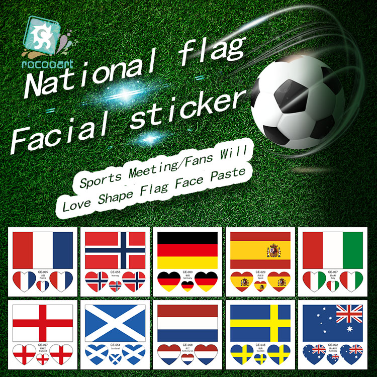 French Women's Football World Cup Flag Tatoo Sticker France England Scotland Sweden Germany Italy Spain Flag Temporary Tattoos