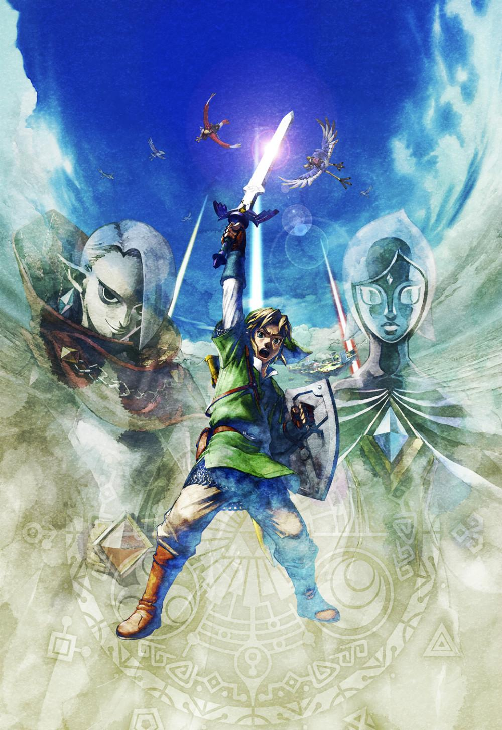 The Legend Of Zelda 25th Anniversary Game Watercolor Inkjet Fabric Poster 32 X 24 17 13 Decor 06 In Painting Calligraphy From Home