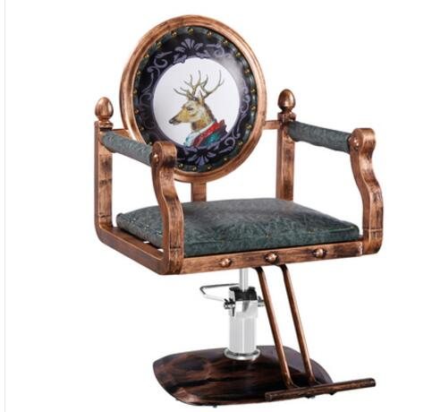 Vintage Barbershop Chair Hair Salon Dyeing And Ironing Chair Hair Cutting Chair Hair Salon Hydraulic Chair Master Chair Nail Sto