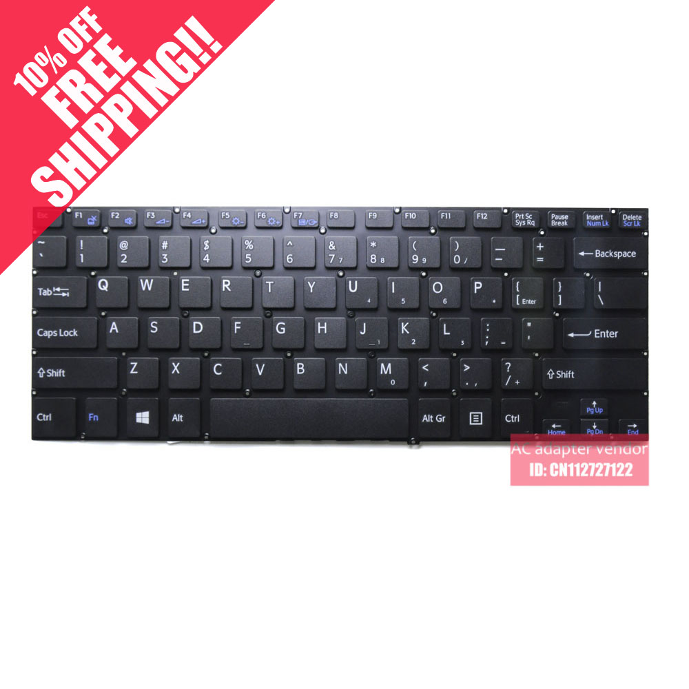 FOR SONY SVF14 SVF143ALQT new Replace laptop keyboard English US