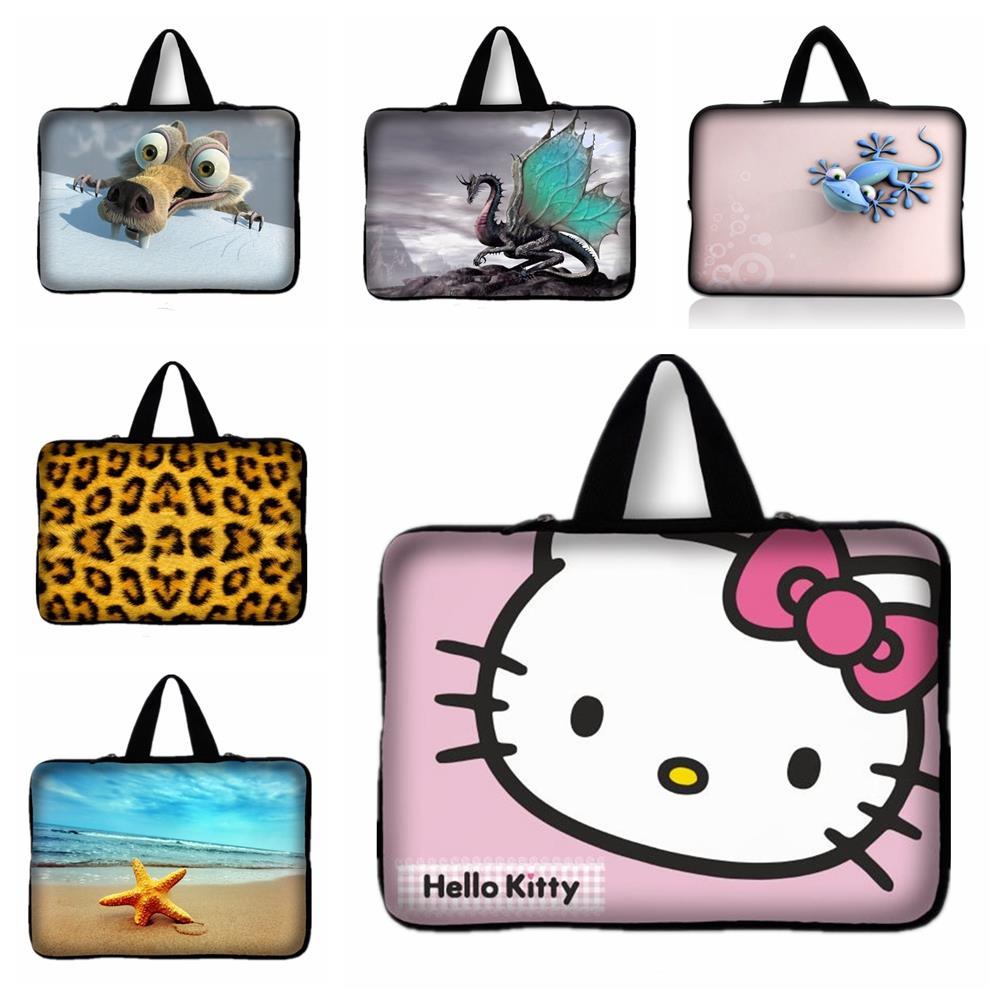 Portable Laptop Bag Zipper Soft Sleeve Kitty Cat,Gecko Laptop Case for 13-inch 13.3 Ultrabook Laptop Notebook For MacBook