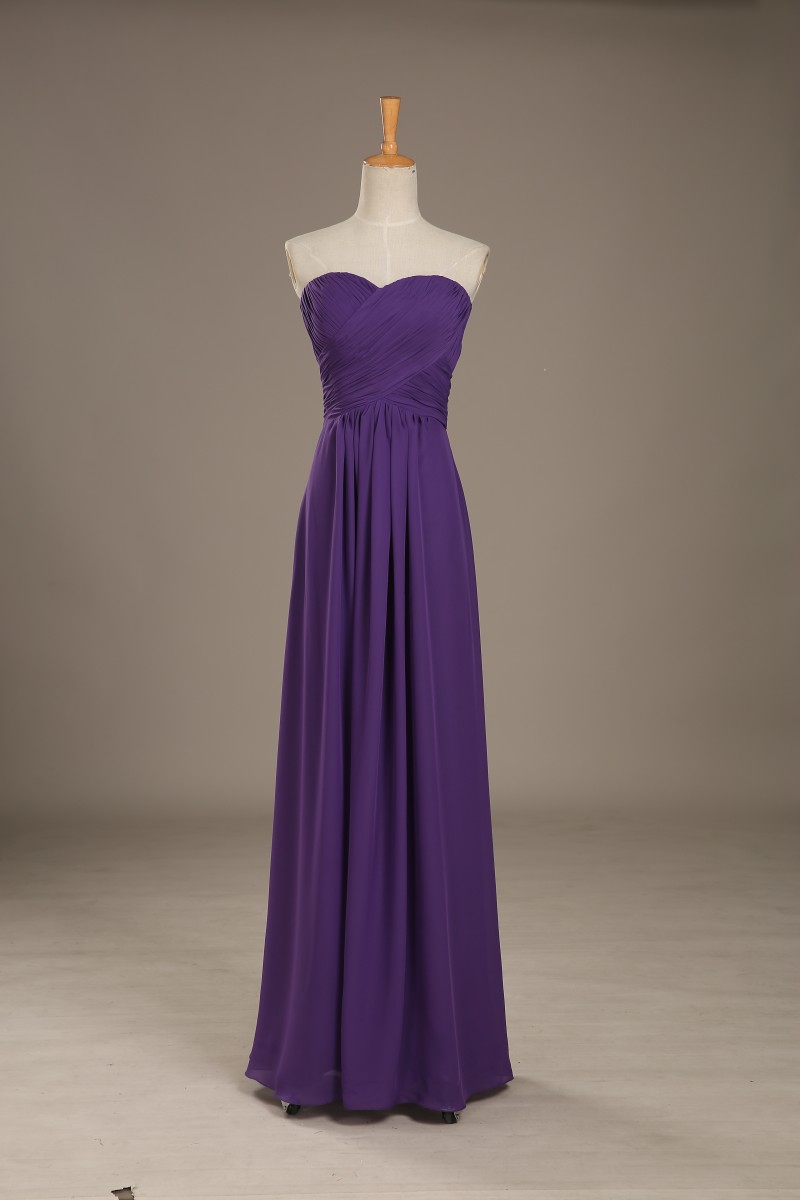 Sexy Sweetheart Chiffon   Bridesmaid     Dresses   Long 2017 A Line Backless   Bridesmaid   Gowns Cheap Women Party   Dress   Real Photo