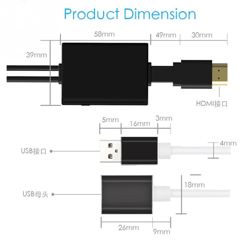 Neue mini Hdmi kabel Mit Audio Video HD Kabel Konverter Adapter ...