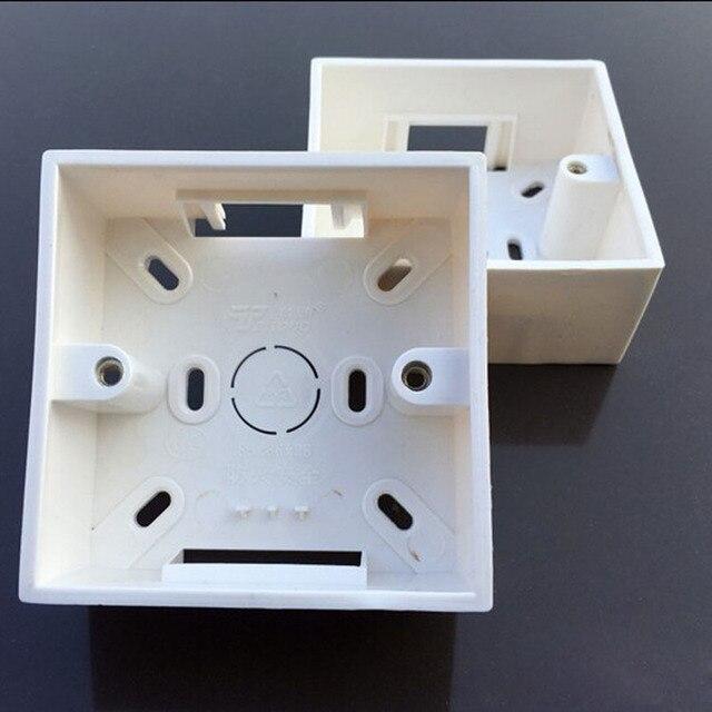 10pcs 86 type universal flame retardant wall junction boxes pvc wiring  bottom box for push button