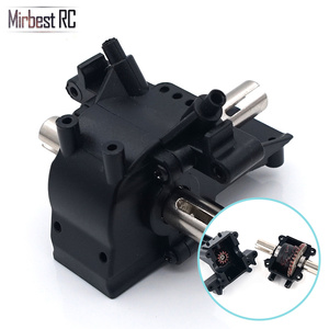 Image 2 - Metal differential gear front rear wave box Hydraulic Transmission Box RC car accessories For WLtoys 12428 12423 Upgrade parts