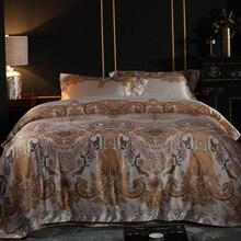 YeeKin Египетский хлопок европейский стиль постельного белья Король Королева Египетский хлопок сатин жаккард Мужские постельное белье покрывала