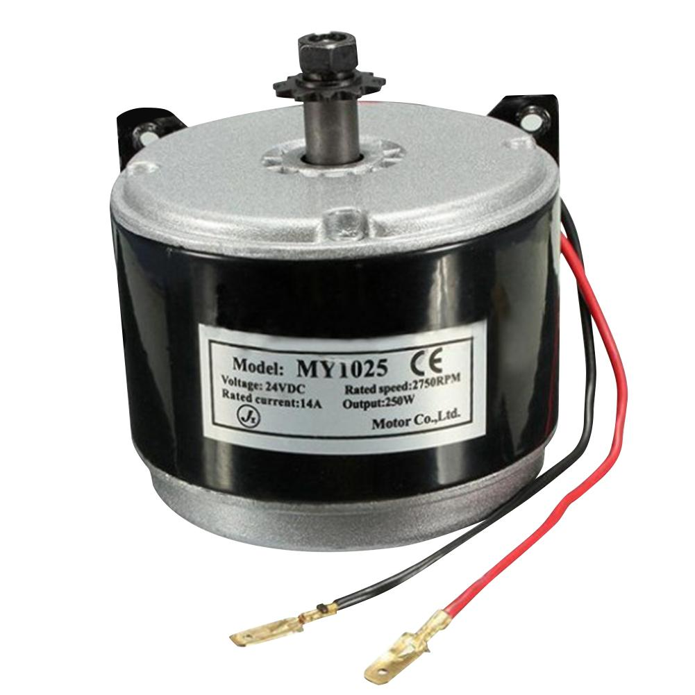 250w DC 24Vhigh Speed Motor , Scooter Small Brush Motor, Brush Motor With Belt Pulley For Electric Scooter
