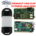 Mejor Calidad de Chip Completo CIPRÉS AN2135SC V160 OBD2 Interfaz de Diagnóstico Multi-Idioma Renault Puede Acortar Para Renault Puede Acortar El