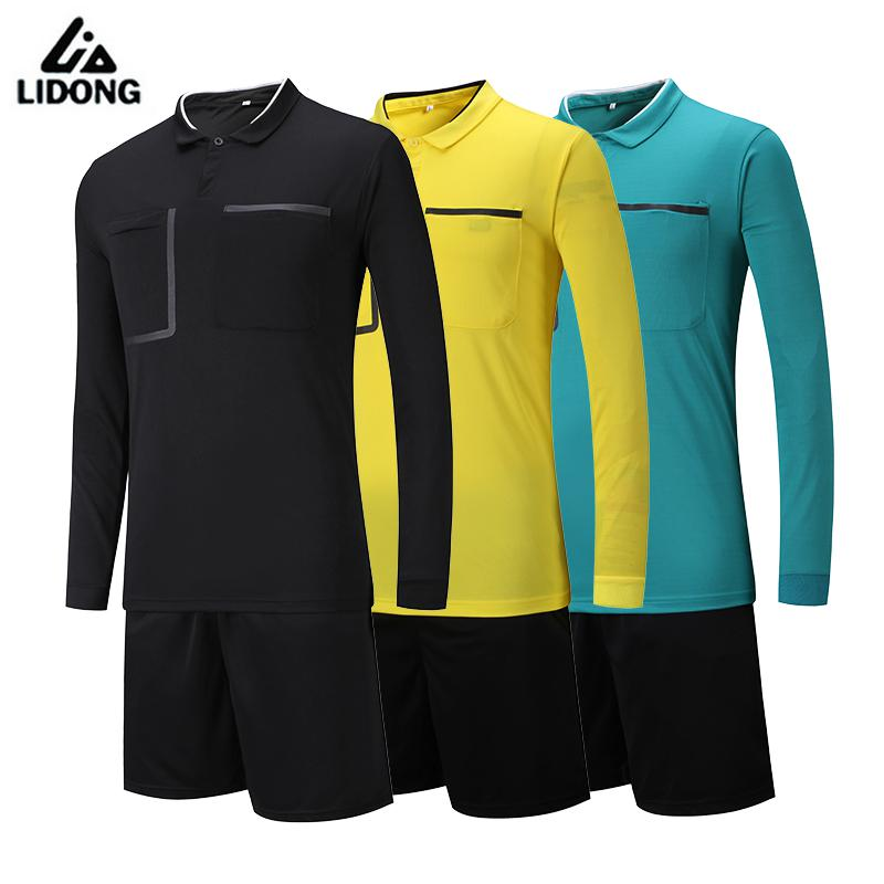 Hot Style Soccer Judge Uniforms Set Professional Soccer Referee Clothing Kit Football Referee Jerseys Suit Classical Color S-3XL maicca quality soccer corner flag football referee flags wholesale 4pcs pack