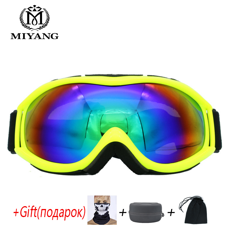 Skiing Eyewear Glasses Spherical Double Anti-fog Goggles Anti-Snow Goggles Mountaineering Mirror UV Can Be Placed Myopia Glasses