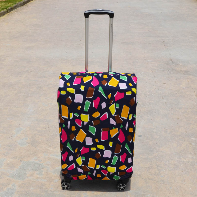 18 to 28 inch Suitcase Cover Travel on Road Stretch Luggage Carry On Protective Trolley Case Macaron Dust Cover Luggage Covers