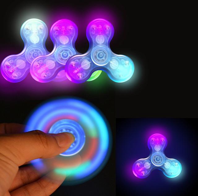 Transparent LED Fidget Spinner
