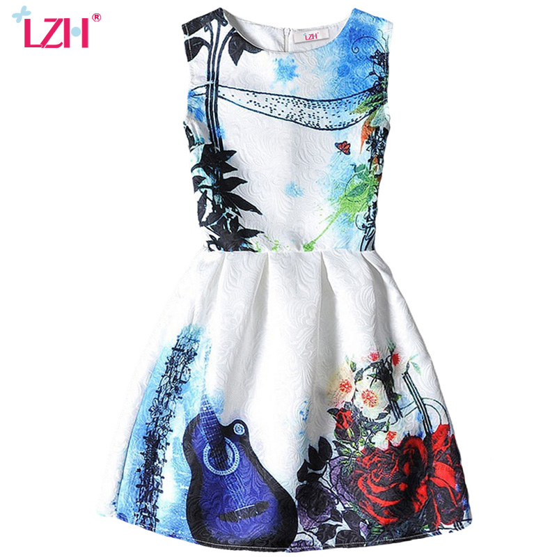 LZH Flower Girls Dress For Girls Floral Princess Dress Kids Party Dresses Teenager Children Clothing 6 7 8 9 10 11 12 13 14 Year