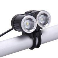 New 6000LM 2x CREE T6 White LED Waterproof Aluminum Alloy Front Bicycle Light Bike Headlamp Headlight