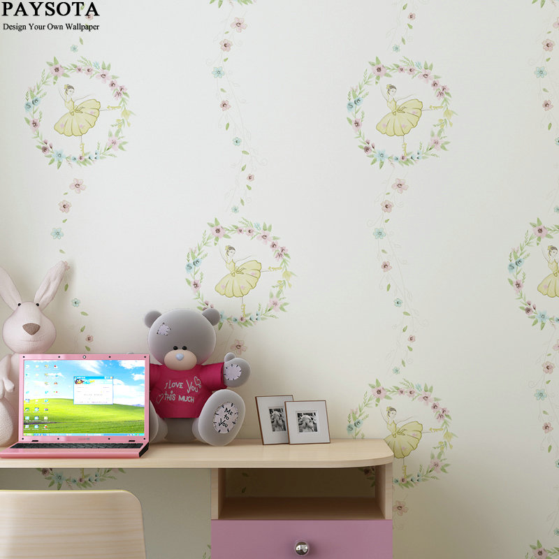 Papel De Parede Photo Wallpaper Paysota Cartoon Ballet Princess Room Wallpaper Girl Children Bedroom Background Wall Paper custom photo wallpaper papel de parede london city for living room bedroom wall decoration wall paper vinyl wallpaper background