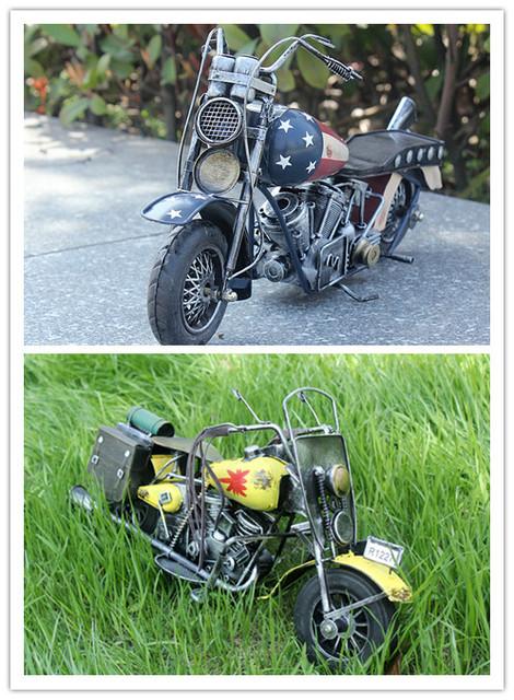 Car-styling materiales de Metal modelo de la motocicleta Del Coche juguetes para niños de gran tamaño